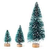 MECO Mini Sapin de Noël artificiel 4.5/6.5/12.5cm Art Sapin de Noël bleu-vert avec le stand Décoration de Noël H 45/65/125 ...