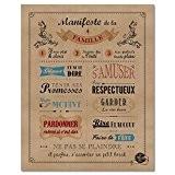 Mes Mots Déco POST-MF-4050-021 Manifeste de la Famille Affiche à Encadrer Papier Kraft 40 x 0,1 x 50 cm