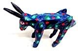 Mexicaine, jungle, bois, clair, animal, statue, ornement, léopard, vache, chien, âne
