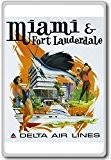 Miami And Fort Lauderdale, Florida, USA - Vintage Travel Fridge Magnet - Aimant de réfrigérateur