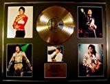 MICHAEL JACKSON/CADRE GEANT DISQUE D'OR CD, VINYLE & PHOTOS/EDITION LIMITEE /CERTIFICAT D'AUTHENTICITE...
