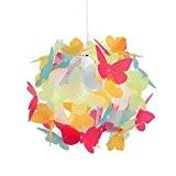 MiniSun Abat-Jour Abat Jour pour Lustre ou Suspension, Boule au Papillons Multicolore. Parfait pour enfants Ou Décor contemporain, Pour Douille ...