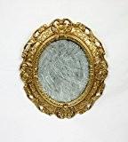 Miroir doré miroir doré cadre ovale style baroque imitation vintage