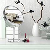 Miroir sur pied casa pura® en acier chromé | 3 degrés de grossissement au choix | 360° rotation, réglable en ...