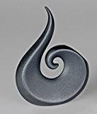Moderne Vase décoratif Vase en céramique Noir Fleurs Hauteur 23cm