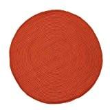 MonBeauTapis 121813 Tam Tam Tapis Coton Orange Diamètre 120 cm
