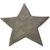 MonBeauTapis Tapis en Forme d'Étoile Taupe Extra Doux Antidérapant Flanelle Polyester 90 x 90 cm
