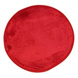 MonBeauTapis Tapis Rond Rouge Extra Doux Antidérapant  Flanelle Polyester 70 x 70 cm