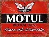 Motul Moteur Huiles cygne-Finch Huile Garage Vintage Annonce Métal/Panneau Mural Métalique - 20 x 30 cm