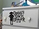 Mr Wheel Trims Autocollant tiroir à chaussettes Dobby Harry Potter pour tiroir 10cm x 1Noir