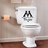 MR WHEEL TRIMS Sticker pour toilettes/salle de bain avec inscription «Ministère de la Magie» Noir 25cm [français non garanti}