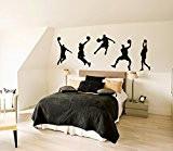 mur d'art vinyle Autocollant 60cmX 100cmart de mur de basket-ball de la NBA joueurs Graphique cker mural Wavinyle Decalcomanie