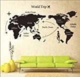 Mur étiquette Amovible Monde Voyage Carte Art Décalque Murale DIY Décor HG-0501