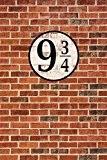 Murs En Briques Papier Peint Photo/Poster Autocollant - Quai Neuf Et Trois Quarts (180 x 120 cm)