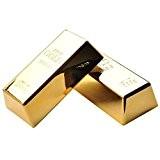 Mylar. 2pcs Faux lingot d'or Presse-papier antidérapant Butée de porte cales