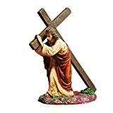 mylifeunit Jésus de Croix religieuse Statue Figurine Christian cadeau, 12cm