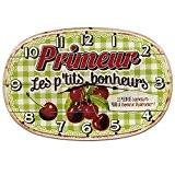 Natives Horloge murale Bois Vintage Style français avec slogan Primeur 311070
