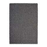 Nazar grand tapis shaggy trendy 200x280 cm gris foncé