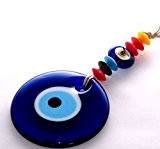 Nazar–Turc Yeux–Pendantes avec Perles plastique multicolores murale 24x 8,5cm