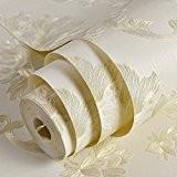 Non-tissé européenne Chambre Salon papier peint papier peint papier peint fond plat Den 0.53m*10M,Beige Clair