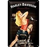 "Nostalgic-Art 22214 Plaque en métal Harley Davidson ""Biker Babe"" 20 x 30 cm"
