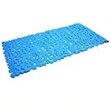 NUOLUX Tapis de Bain Anti-Dérapant 35 * 70cm Bleu