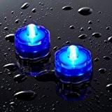 Offre Spéciale : Lot de 10 Bougies Etanches et Submersibles avec LED Bleues de Lights4fun