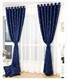 Organdi de campagne Style Star ombrage acrylique d'inélastiques fibres perforé Rideau Tulle chaud argent fenêtre rideaux cantonnière, 1 panneau de ...