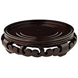 Oriental Meubles asiatiques Gifts et Home Decor Fancy Diamètre 3,8cm Vase rond Pot à épices/Support/Base, n ° 10