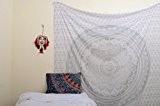 Original Argent ombre Mandala Tapisserie unique Collection par rawyal Crafts, Hippie mur tapisserie tapisseries Mandala Double, mural, Couvre-lit Couvre-lit