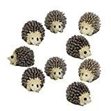 ornements Hedgehog - SODIAL(R)10pcs Miniature Maison De Poupee Bonsai Jardin feerique Paysage Herisson Decoration