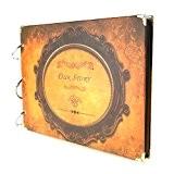 """""""Our Story"""" DIY Autocollant Album photo Retro Scrapbooking Album Pages Noires Idéal Pour Cadeau De Noël, Rose"""
