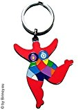 Out of the blue porte-clés avec figurine nana ! hommage niki de saint phalle by biriney nana sculpture