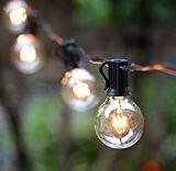 OxyLED G40 Guirlandes Lumineuses avec 25 Ampoules, connexion de bout en bout jusqu'à 3 brins, 220V EU plug, lumière jaune ...
