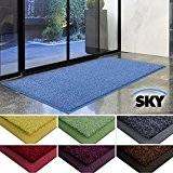 Paillasson d'entrée casa pura® Sky 100% polyamide, antidérapant | absorbant, résistant | 7 couleurs, 2 tailles | turquoise, 50x85cm