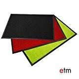 Paillasson d'entrée etm® série EVEREST | qualité supérieure - lavable et très absorbant | plusieurs tailles et couleurs - noir ...