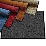 Paillasson etm® moucheté très absorbant | tapis d'entrée couloir | intérieur ou extérieur | lavable en machine | Rouge et ...
