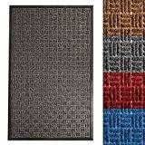 Paillasson gris etm® en polypropylene | absorbant et résistant - int. / extérieur | reliefs Océan - anthracite, 90x150cm