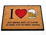 """Paillasson """" I Love bière """" - humour"""