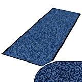 Paillasson sur mesure casa pura® tapis anti poussiere   absorbant   couloir   7 couleurs, 16 tailles   Brasil, bleu ...