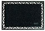 Paillasson - Tapis entrée noir 60x90cm - Tapis d'extérieur