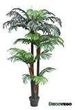 Palmier Areca Plante Arbre Artificielle Artificiel Plastique 150cm Decovego