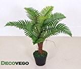 Palmier Fougère Plante Artificielle Artificiel 65cm Decovego