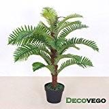 Palmier Fougère Plante Artificielle Artificiel 85cm Bois Véritable Decovego