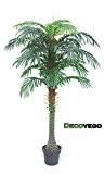 Palmier Plante Arbre Artificielle Artificiel Plastique 140cm Decovego