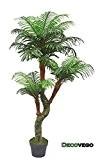 Palmier Plante Arbre Artificielle Artificiel Plastique avec Pot 165cm Decovego
