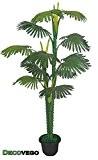 Palmier Tallipot Rônier Plante Arbre Artificielle Artificiel Plastique 160cm Decovego