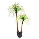 Palmier yucca artificiel en pot, 2 troncs, 120 cm - palmier en pot / plante d'intérieur artificielle - artplants