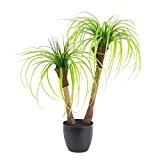 Palmier yucca artificiel en pot, 2 troncs, 90 cm - palmier en pot / plante d'intérieur artificielle - artplants