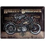 Pancarte Murale Motif Harley Davidson Mur De Brique 30cm x 40cm